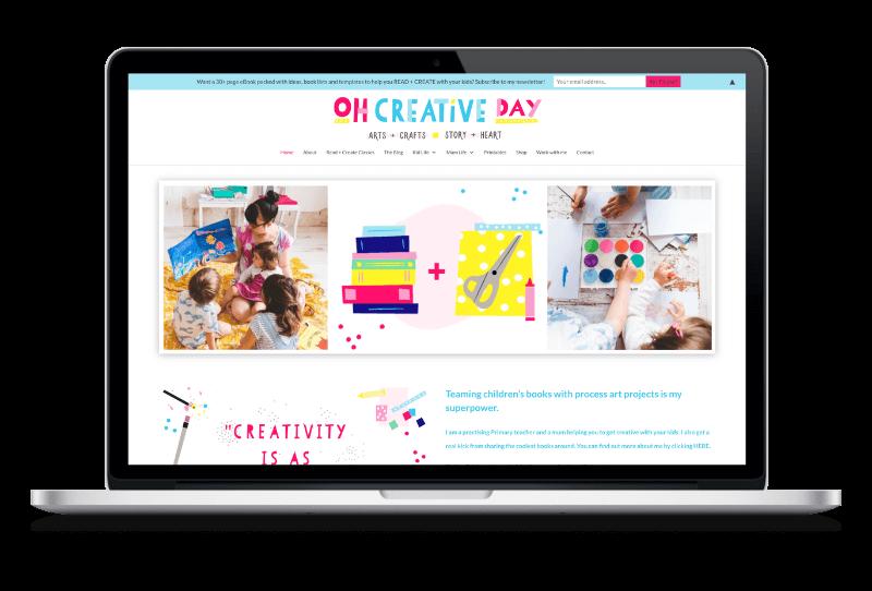 Oh Creative Day web design by Digital Lemonade